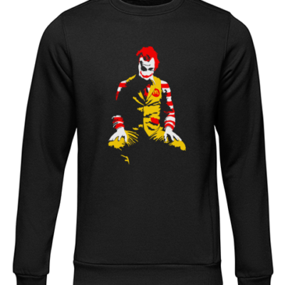 ronald mcdonald black sweater