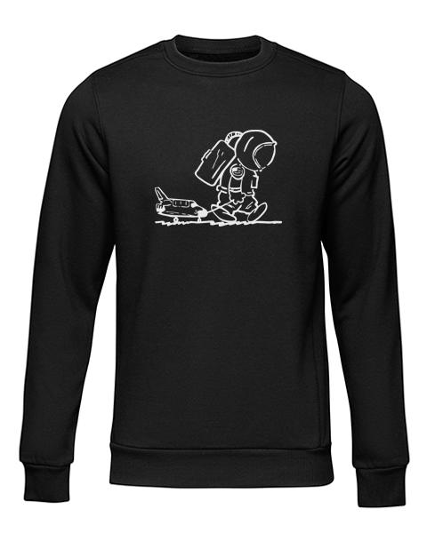 sad spaceman black sweater