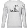 sad spaceman grey sweater
