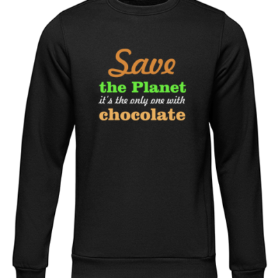 save the planet black sweater