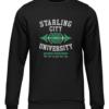 starling city university black sweater