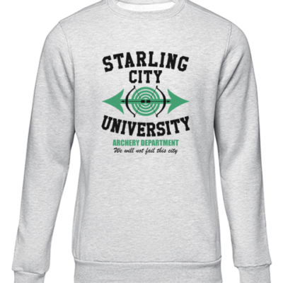 starling city university grey sweater