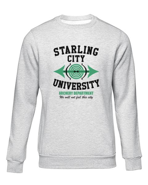 starling city university grey sweater