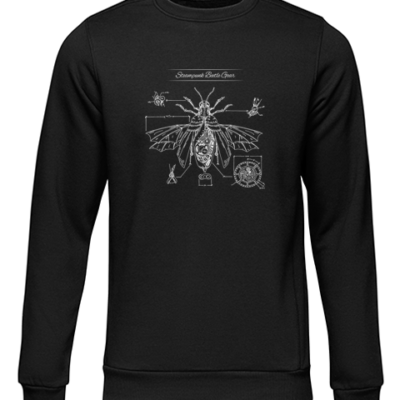 steampunk beetle gear black sweater