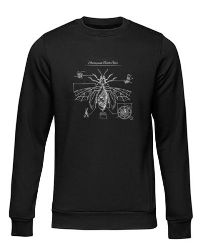 steampunk beetle gear black sweater