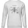 steampunk beetle gear grey sweater