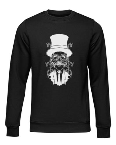steampunk gentleman black sweater