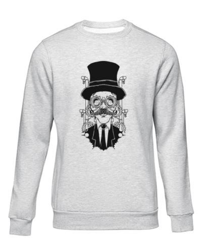steampunk gentleman grey sweater