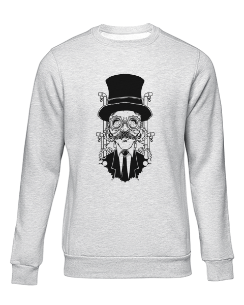 steampunk gentleman grey sweater