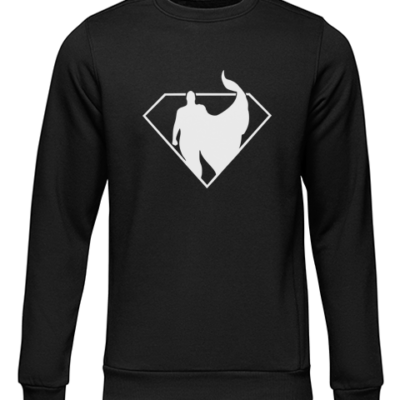 superman silhouette black sweater