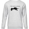 t rex hates push ups grey sweater