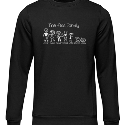 the ass family black sweater