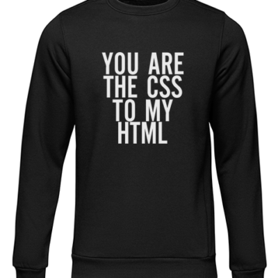 the css to my html black sweater