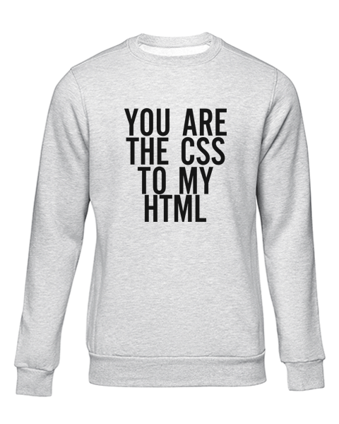 the css to my html grey sweater