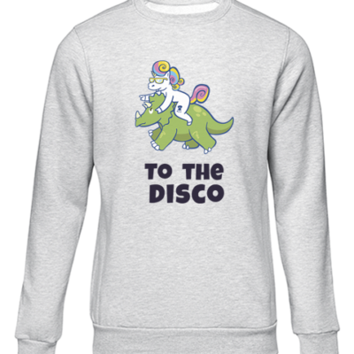 unicorn to the disco grey sweater