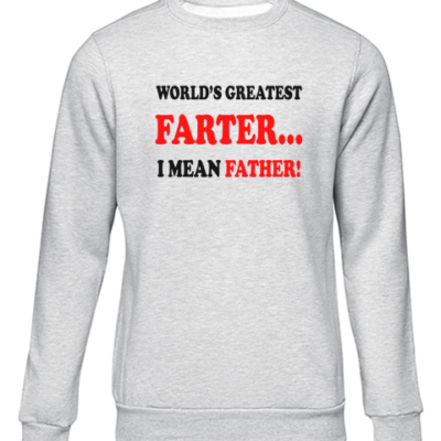 worlds greatest farter grey sweater