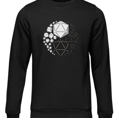yin yan die black sweater