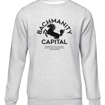 bachmanity grey sweater