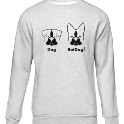 batdog grey sweater