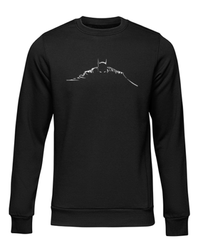 batman silhouette black sweater