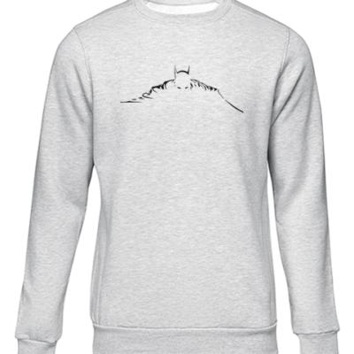 batman silhouette grey sweater