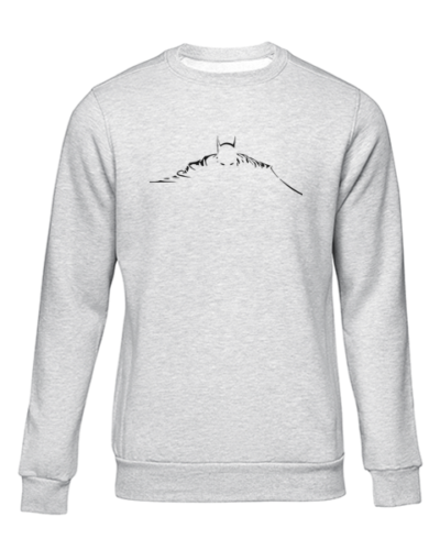 batman silhouette grey sweater