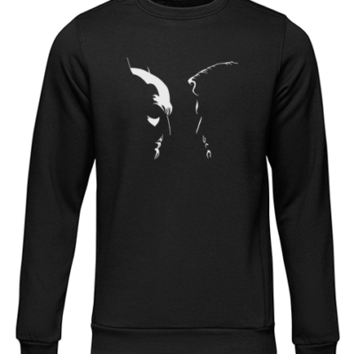 batman vs superman silhouette black sweater