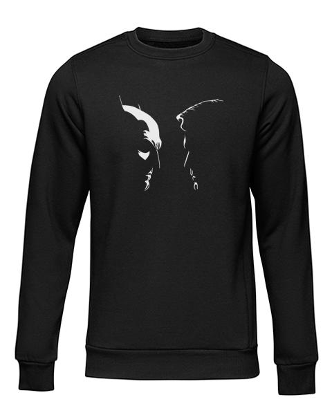 batman vs superman silhouette black sweater