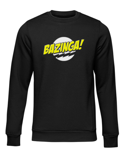 bazinga black sweater