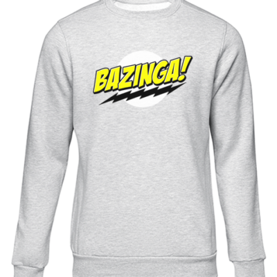 bazinga grey sweater