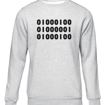 binary dad grey sweater