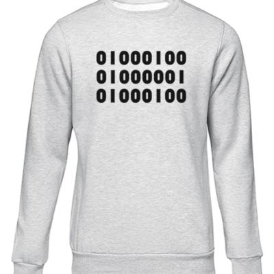 binary dad grey sweater