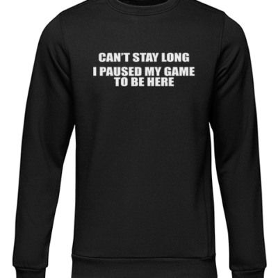 cant stay long black sweater