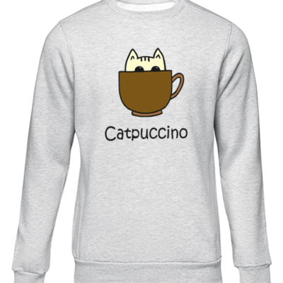 catpuccino grey sweater