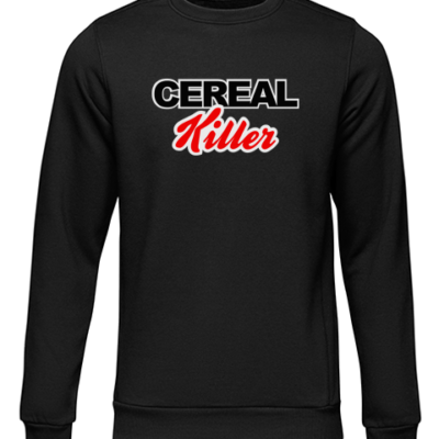 cereal killer black sweater