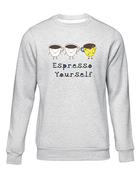 espresso yourself grey sweater