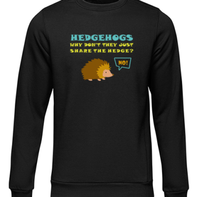 hedgehogs black sweater