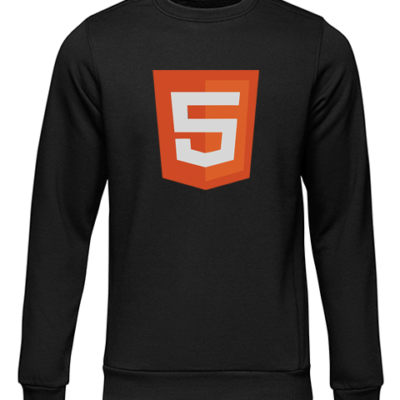 html 5 black sweater