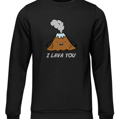i lava you black sweater