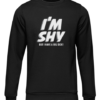 im shy black sweater