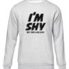 im shy grey sweater