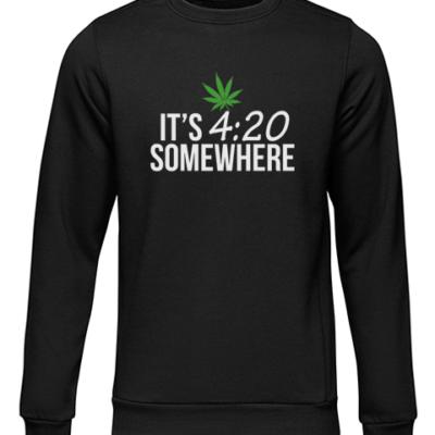 its 420 somewhere black sweater