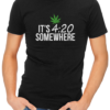 its 420 somewhere mens tshirt black