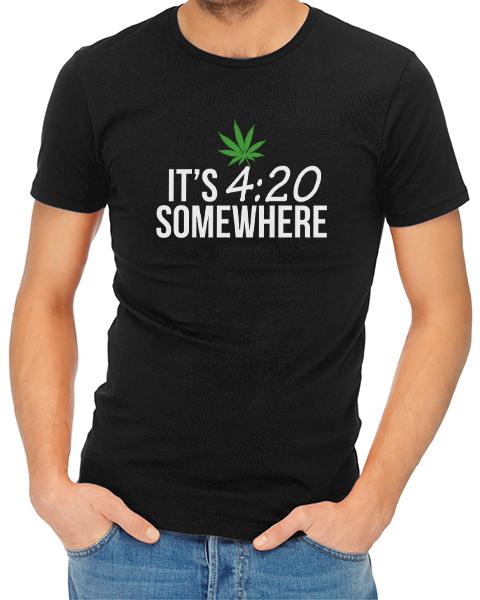 its 420 somewhere mens tshirt black