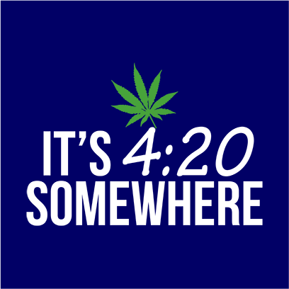 its 420 somewhere navy square