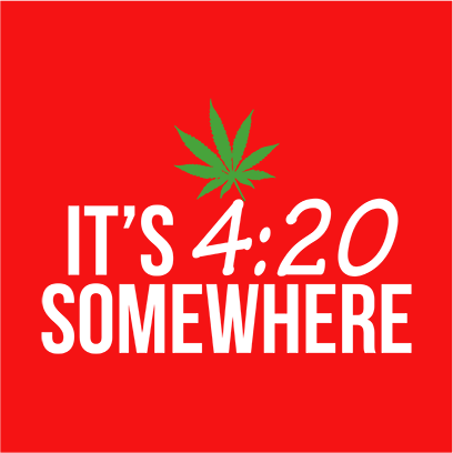 its 420 somewhere red square