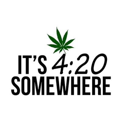 its 420 somewhere white square