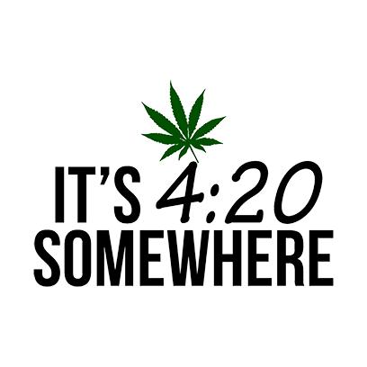 its 420 somewhere white square