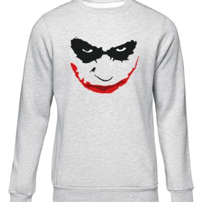 joker smile grey sweater