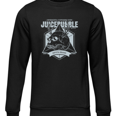 juicebubble skull 1 black sweater